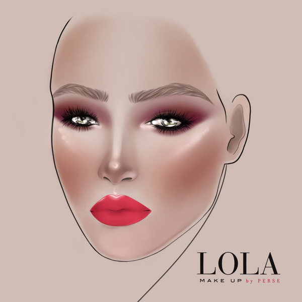 LOLA Make Up AW19 collection memories look 1 face chart