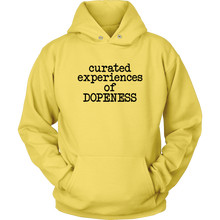 Load image into Gallery viewer, Curated Dopeness Hoodie (Black Text)
