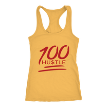 Load image into Gallery viewer, 100 HU$TLE Racerback Tank Top