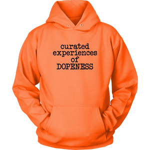 Curated Dopeness Hoodie (Black Text)