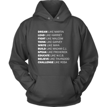 Load image into Gallery viewer, Black Excellence Hoodie (White Text)