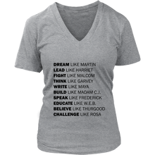 Load image into Gallery viewer, Women's Black History V Neck