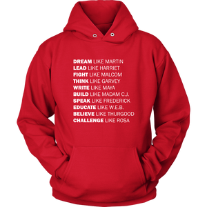 Black Excellence Hoodie (White Text)