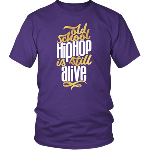 Old School Hip Hop Tee (White Text)