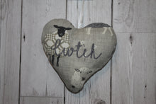Load image into Gallery viewer, Cwtch Lavender Hanging Heart- Grey Sheep