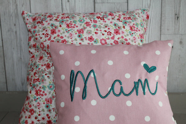 Mam Cushion -Pink Dotty and Floral