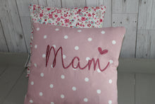 "Load image into Gallery viewer, Mam Cushion -14"" Pink Dotty and Floral"