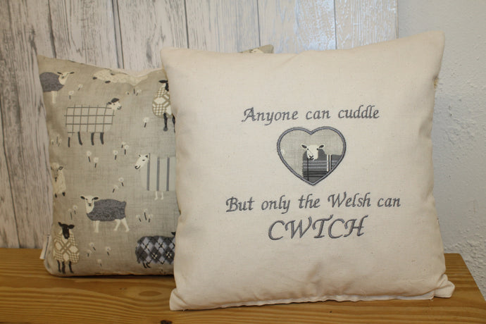 Any one can cuddle but only the welsh can Cwtch- 16