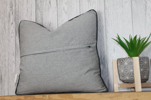 Hare Piped Grey Cushion