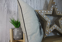 Load image into Gallery viewer, Hare Cushion, Cream Piped Hare Embroidered Cushion