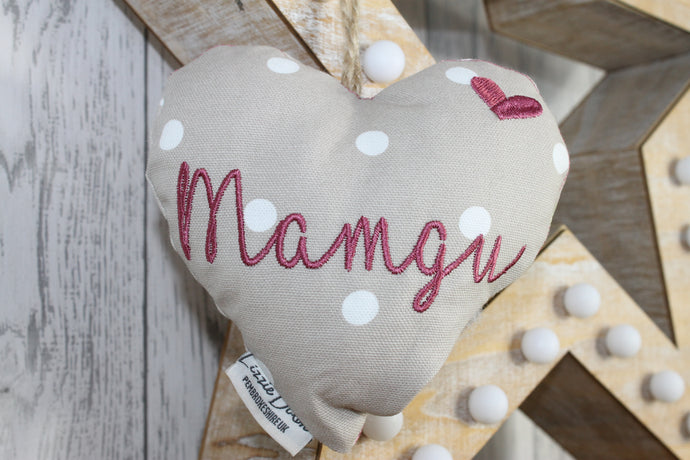 Mamgu Decorative Lavender Hanging Heart