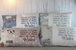 Cwtches and Cuddles Welsh Quote- Grey Sheep in Jumpers