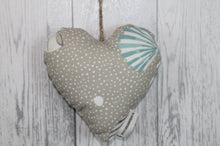 Load image into Gallery viewer, Cwtch Hanging Heart-Nautical Spot and Shell