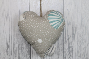 Cwtch Hanging Heart-Nautical Spot and Shell