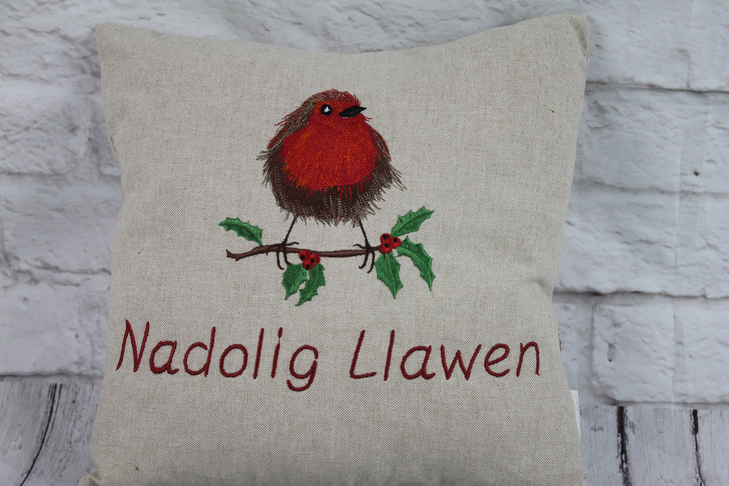 Robin Christmas Cushion- 16