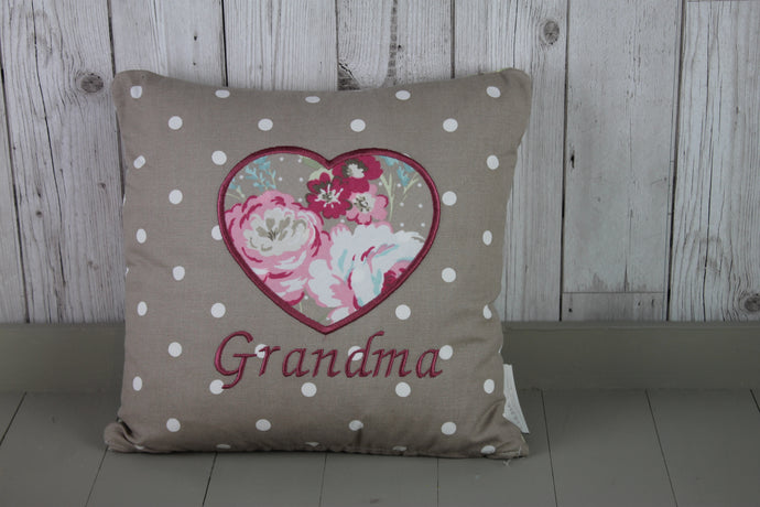 Grandma Cushion- Taupe Rose.
