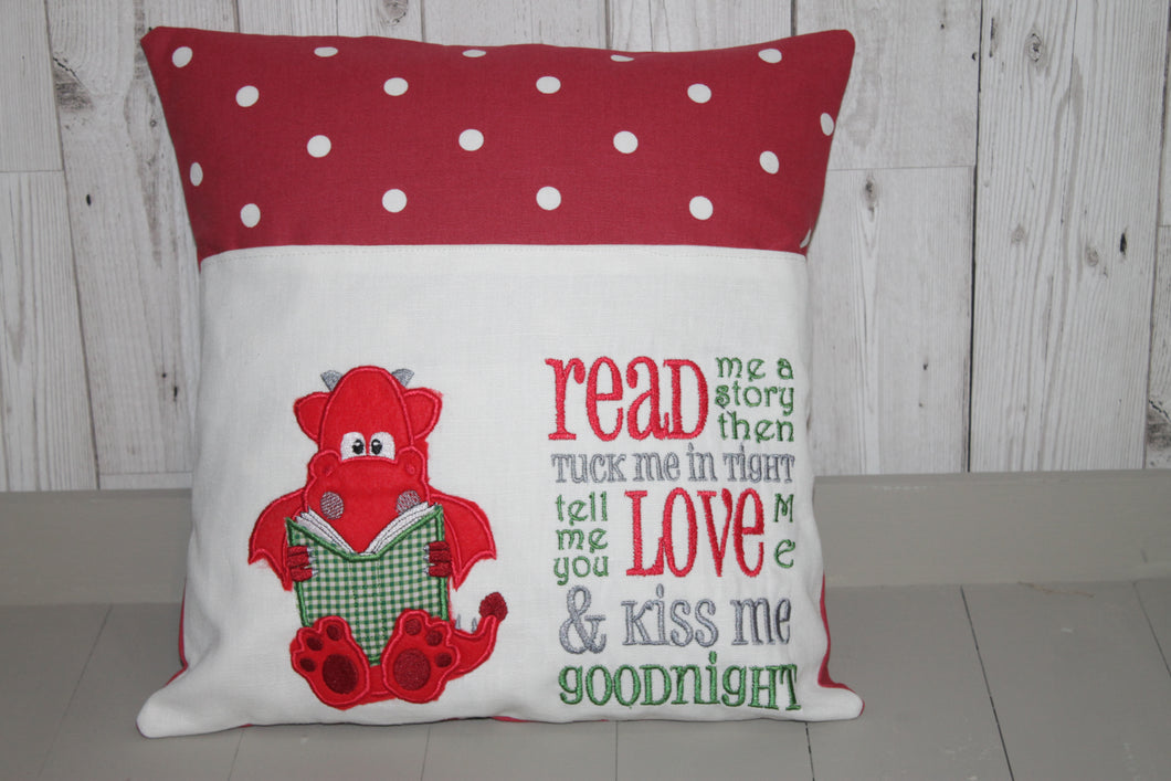 Red Dragon Children's Reading Book Cushion.