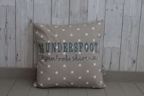 Location Cushion - Taupe Dotty and Shell-Square