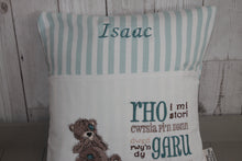 Load image into Gallery viewer, Tatty Teddy Children's Reading Book Cushion. Welsh saying