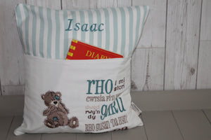 Tatty Teddy Children's Reading Book Cushion. Welsh saying