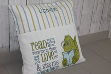 Load image into Gallery viewer, Children's Reading Book Cushion- Green Dino