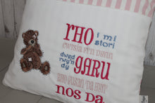 Load image into Gallery viewer, Tatty Teddy Children's Reading Book Cushion. WelshSaying