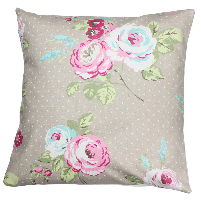 Taupe Rose Cushion