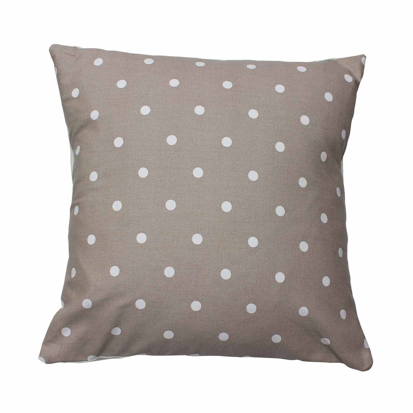 Taupe Dotty Cushion