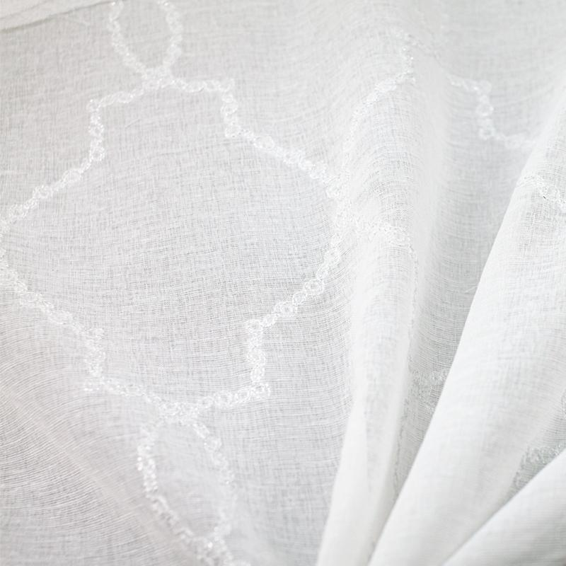 Aladdin Fabric | Embroidered Sheer - Rodeo Home