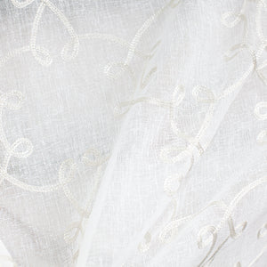 Casper Fabric | Sheer Embroidered