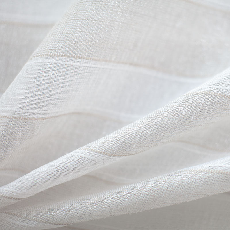 Costello Fabric | Metallic Striped Sheer