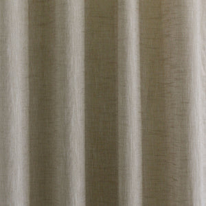 Adrina Set of 2 Metallic Linen Look Curtain Panels | Size 54X96 | Color Taupe