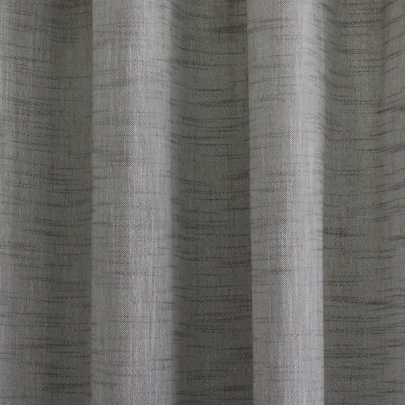 Adrina Set of 2 Metallic Linen Look Curtain Panels | Size 54X96 | Color Gray