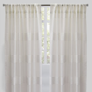 Agate Set of 2 Sheer Curtain Panels | Size 54X96 | Color White