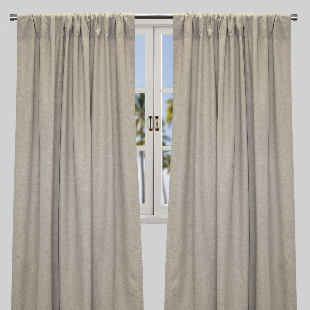 Alisha Set of 2 Linen Look Curtain Panels | Size 54X96 | Color Natural