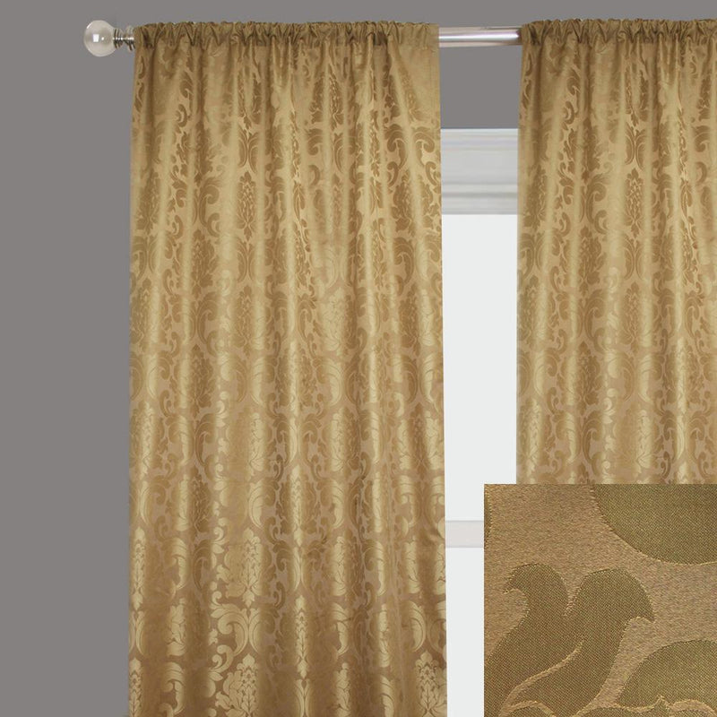 Alyssa Curtain Panels | Size 54x96 | Color Antique