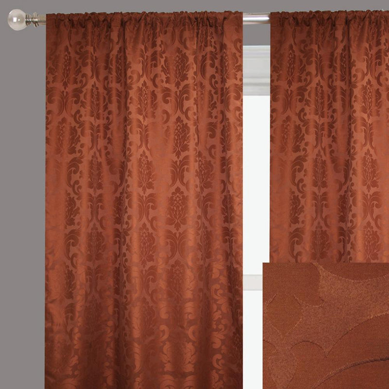 Alyssa Curtain Panels | Size 54x96 | Color Brick