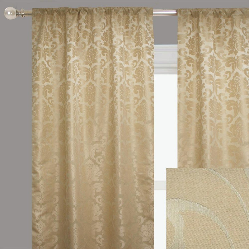 Alyssa Curtain Panels | Size 54x96 | Color Cream