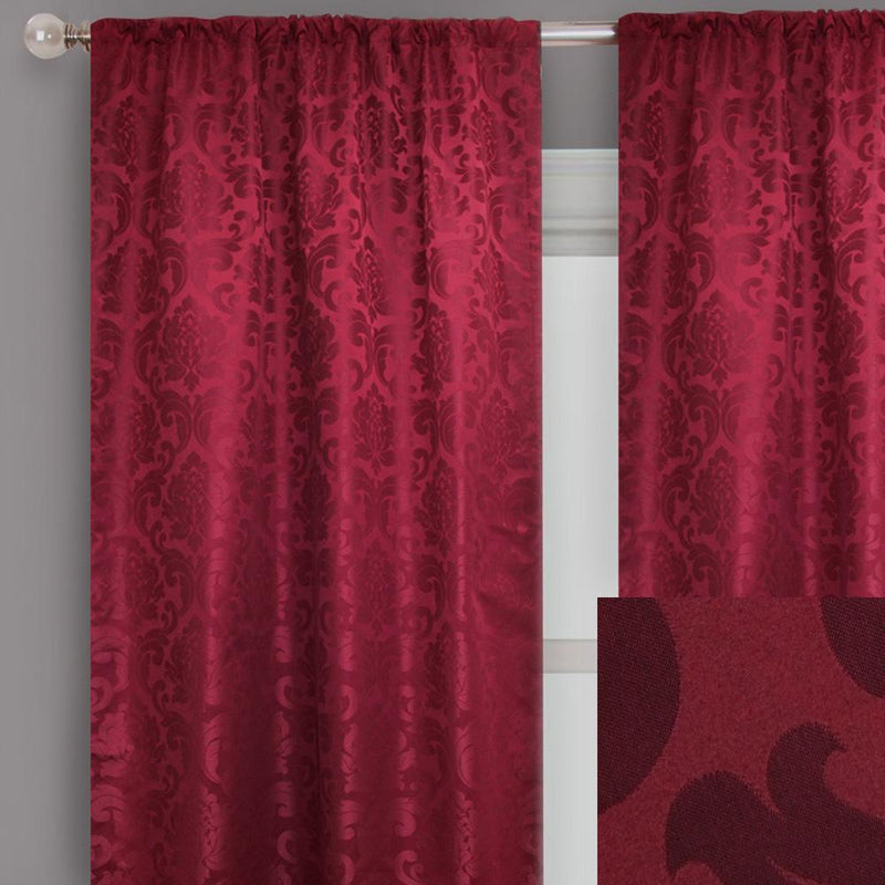 Alyssa Curtain Panels | Size 54x96 | Color Red