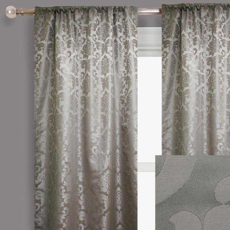 Alyssa Curtain Panels | Size 54x96 | Color Silver