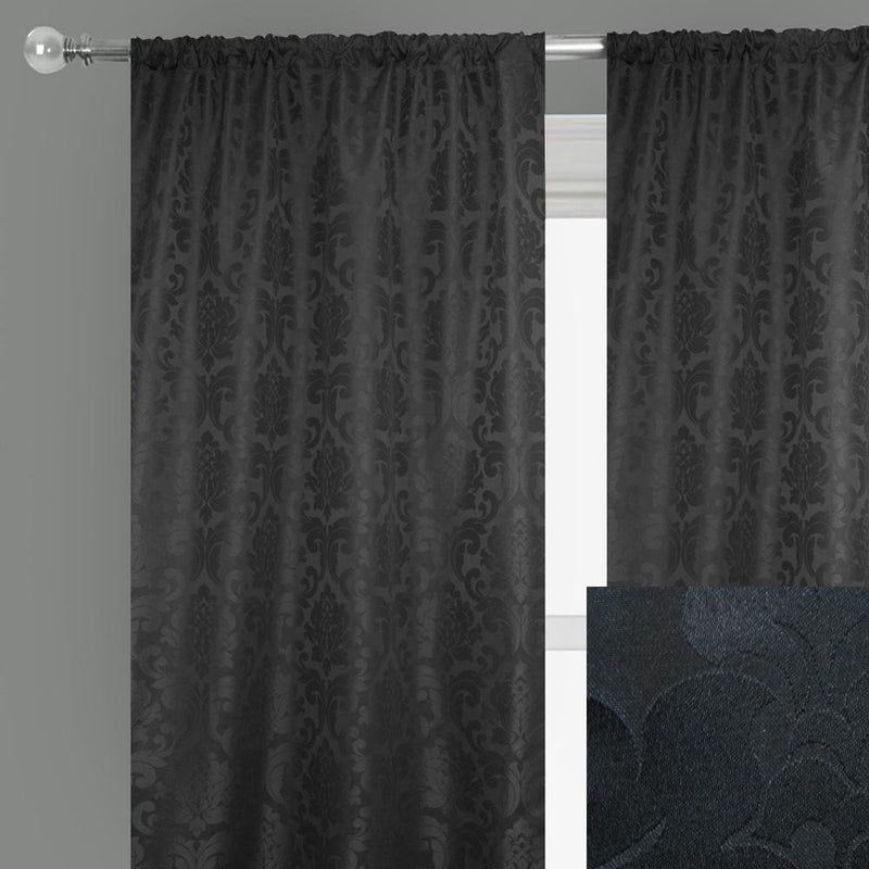 Alyssa Curtain Panels | Size 54x96 | Color Black