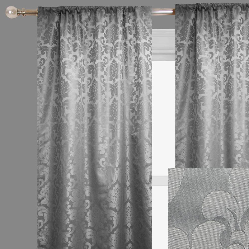 Alyssa Curtain Panels | Size 54x96 | Color Platinum
