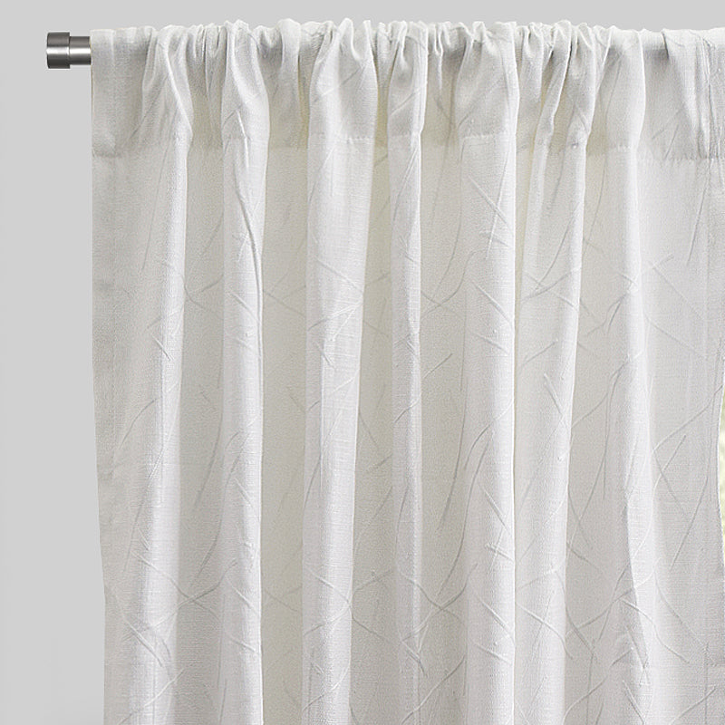 Bailey Set of 2 Textured Curtain Panels | Available Sizes 54X84 & 54X96 | Color White