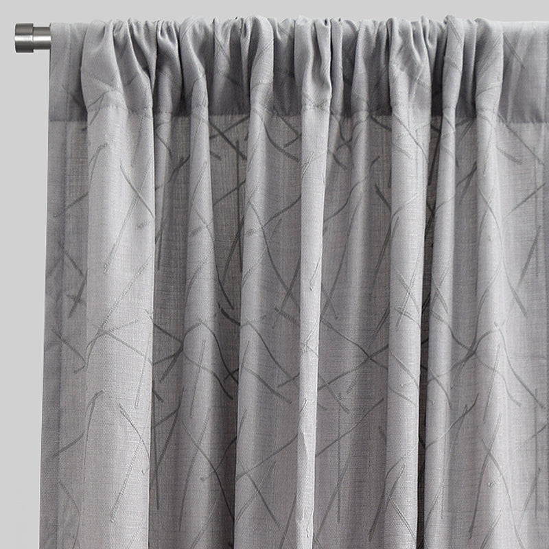 Bailey Set of 2 Textured Curtain Panels | Available Sizes 54X84 & 54X96 | Color Chrome