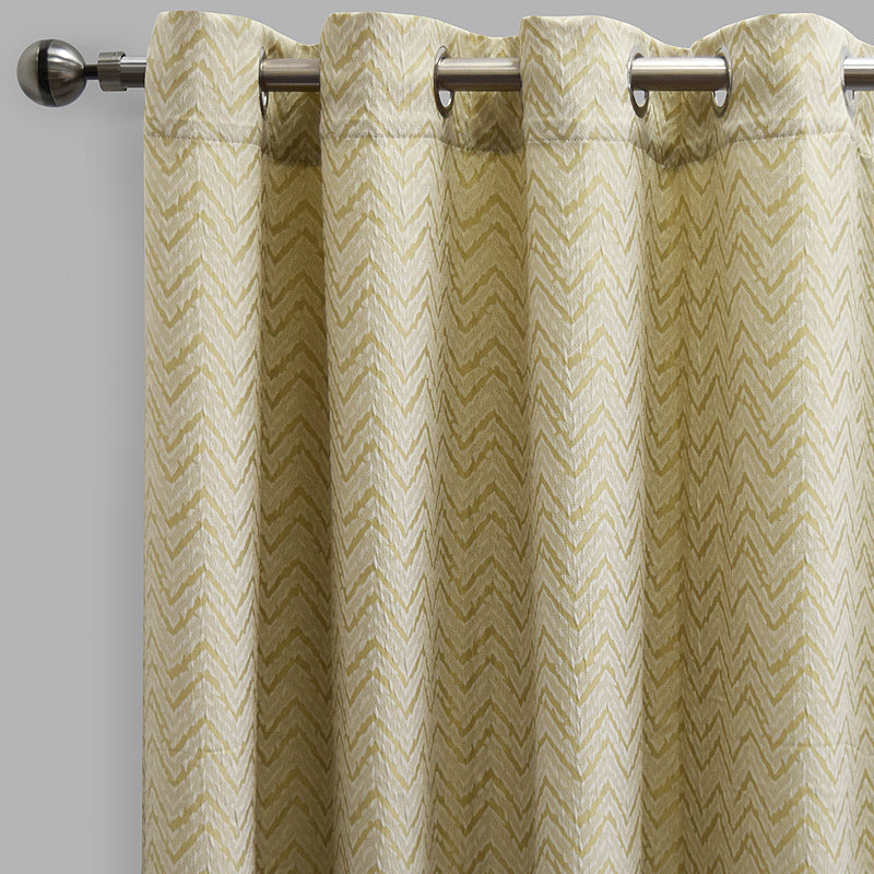 Burch Set of 2 Jacquard Curtain Panels | Size 54X96 | Color Sage