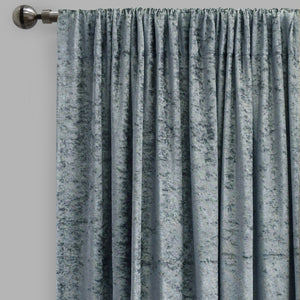 Calisi Set of 2 Crushed Velvet Curtain Panels | Available Sizes 54x96 | Color Denim