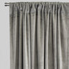 Calypso Set of 2 Velvet Curtain Panels | Available Sizes 54X84 & 54X96 | Color Silver