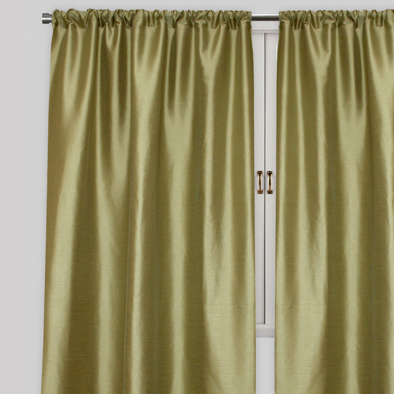Caprice Set of 2  Solid Curtain Panels | Size 54X96 | Color Sage