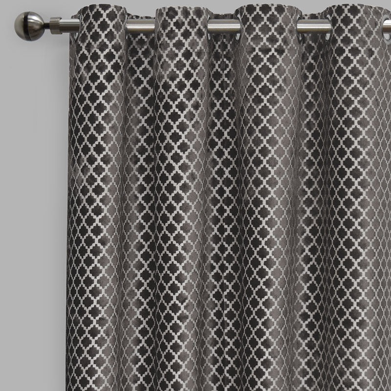 Central Curtain Panels | Size 54x96 | Color Gray