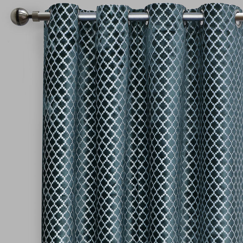 Central Curtain Panels | Size 54x96 | Color Ocean